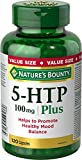 Nature's Bounty 5-HTP Pills and Supplement, Helps Promote Balanced Mood, 100mg, 120 Capsules