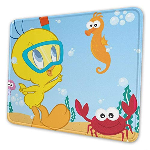 XCNGG Maus-Pads Twee-ty Bi-rd Mousepad Mouse Pad Office Rubber Base Personalized Gaming Anime 3D Custom Design Mouse Mat for Computer/Laptop 7.9×9.5in