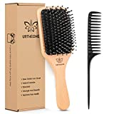 Hair Brush Boar Bristle Hairbrush for Thick Curly Thin Long Short Wet or Dry Hair Adds Shine and...