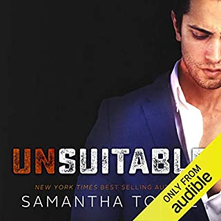 Unsuitable audiobook cover art