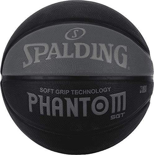 Spalding NBA Phantom Street - Balón de baloncesto, color negro y gris