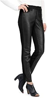 Black Alina Legging Faux Leather Front Jean Women's 14