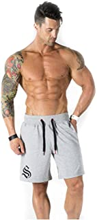 AOQIANG Mens Casual Elastic Waist Training Gym Jogger Sport Short Baggy Performance Active Athletic Shorts with Pockets