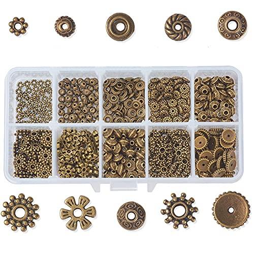 MMYAN Kit de bricolaje de joyería de metal espaciador cuentas pulsera haciendo cuentas patrón perlas joyería hecha a mano cuentas DIY Kits de cuentas para adultos DIY accesorios