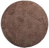 Brandsseller - Tappetino da bagno, rotondo, Ø 60 cm, colore: Tortora