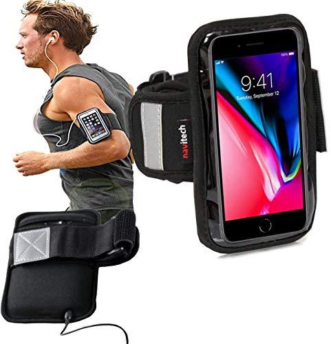 Navitech Brassard Noir Sport/Jogging/randonnée/Cyclisme/vélo résistant à l'Eau pour Smartphones tels queSony Xperia ZR/Sony Xperia L/Sony Xperia SP/Sony Xperia J/Sony Xperia T