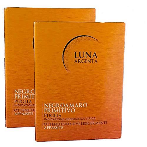 Rotwein Italien Cuvée Negroamaro und Primitivo Luna Argenta Bag in Box trocken (2x5L)