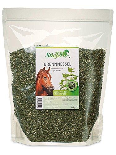 Stiefel Brennessel 500g für Pferde Tüte für den Stoffwechsel, harntreibend, blutreinigend und als natürliches Mineralfutter