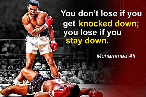 Muhammad Ali Poster Quote Boxing Black History Month Posters Sports Quotes Decorations Growth Mindset Décor Learning Classroom Teachers Decoration Educational Teaching Supplies Black Wall Art P044