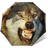 Parapluie de Voyage Coupe-Vent imprimé Fierce Wolf - Coupe-Vent renforcé