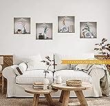 HPNIUB 4 Stück 3D Wandtattoo für Wohnzimmer,3D Vasen