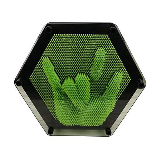 3-dimensional Pin Art, tablero plástico Pin escultura juguete para adultos niños esculturas aprendizaje regalo decoración del hogar