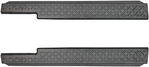 サムライプロデュース スズキ ジムニー JB64 ジムニーシエラ JB74 専用 サイドステップ スカッフプレート 縞鋼板柄 2P ブラックヘアライン