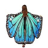 Alas De Mariposa Chal Mariposa Mujer Accesorio Traje Nymph Pixie Cosplay Partido (Azul Verde)