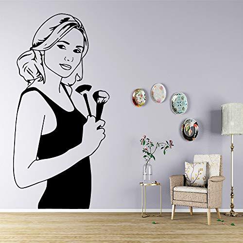 wZUN Schönheitssalon Selbstklebende Vinyl Tapete Wohnzimmer Kinderzimmer Wandkunst Aufkleber 58x117cm