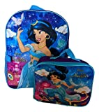 Dinsey Aladdin's Princess Jasmine 16' Backpack With Detachable Matching Lunch Box