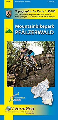 Mountainbikepark Pfälzerwald (R): Topographische Karte 1:50000 mit Radwanderwegen und touristischen Eintragungen (Freizeitkarten Rheinland-Pfalz 1:50000 /1:100000)