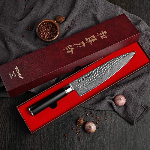 Best Quality Kitchen Knives 8 inch Pro Chef's Knife VG 10 Japanese Damascus Steel Kitchen Knife Brand Santoku Knives Premium Ebony Handle