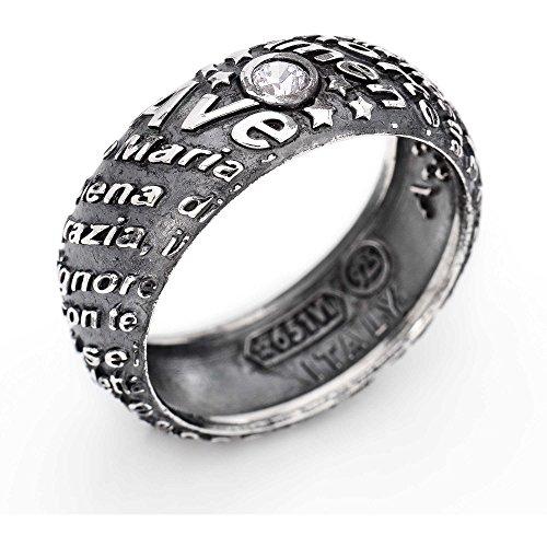 anello donna gioielli Amen Ave Maria misura 18 casual cod. AAM-18