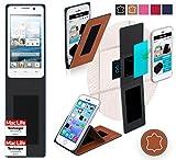 Hülle für Huawei Ascend G525 Tasche Cover Hülle Bumper | Braun Leder | Testsieger
