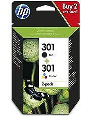 HP 301 - Pack de 2 cartuchos de tinta, color y negro