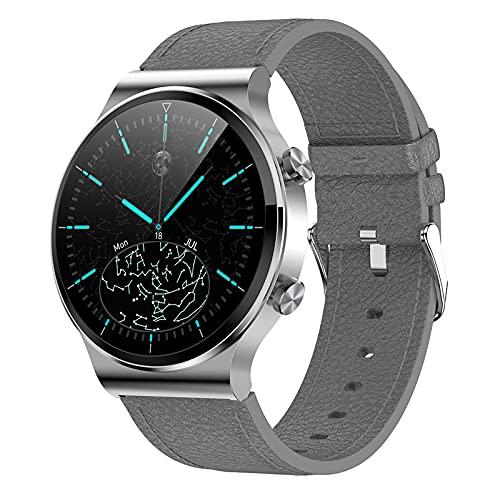 QFSLR Smartwatch, Reloj Inteligente con Monitor De Frecuencia Cardíaca Llamada Bluetooth Monitor De Presión Arterial Monitoreo De Oxígeno En Sangre Monitores De Actividad,Gris