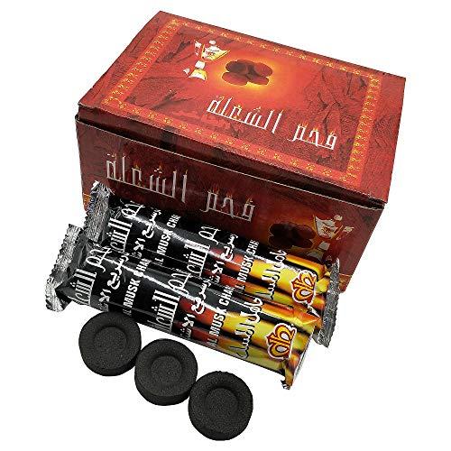 Selbstglühende Holzkohle-Scheiben für die Shisha/Wasserpfeife, 100 Stück