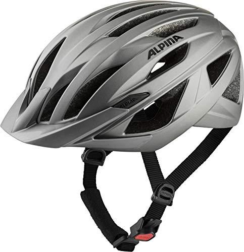 Alpina Unisex– Erwachsene Parana Fahrradhelm, Dark-Silver matt, 55-59 cm