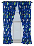 Disney Toy Story Buzz & Woody 63' inch Drapes - Beautiful Room Décor & Easy Set Up, Bedding Features Forky, Ducky, & Bunny - Curtains Include 2 Tiebacks, 4 Piece Set (Official Disney Product)