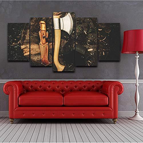 TBDZPS Wohnkultur Wandkunst Bilder Werkzeuge Axt Gemälde Modulares Wohnzimmer HD Bedruckte Leinwand Poster