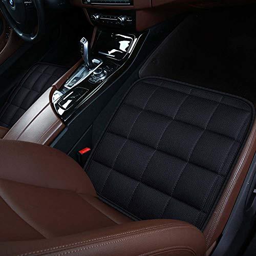 Autostoelkussen voor autobestuurder Bureaustoel, Computerstoel met antislipbodem Geheugen Carbon zitkussen (zwart, 2 voor)