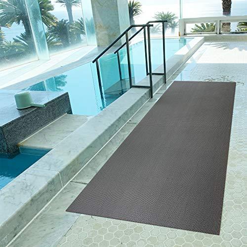 プールと大浴場の滑り止めマット 90cm×6m [グレー] [原反ロール] 高規格6mm厚 転倒防止 ノンスリップ 浴室 温泉スイミング シート PVC ゴムマット ラバー バスマット