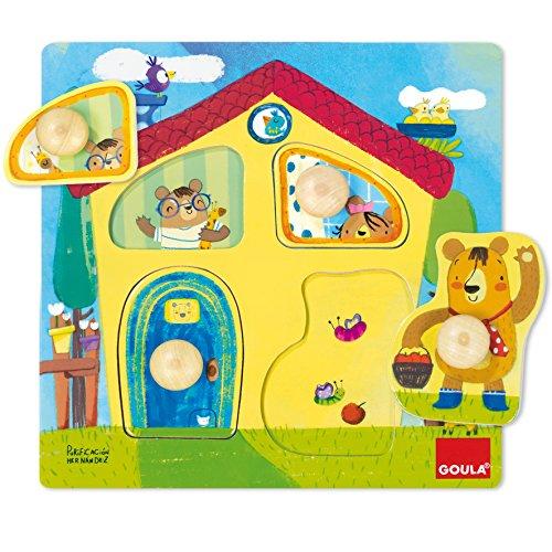 Goula- Casa Familia Osos Conjunto de Puzzles, Multicolor (53461)