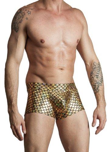 Gary Majdell Sport Mens Hot Body Boxer Swimsuit Gold Mermaid Small