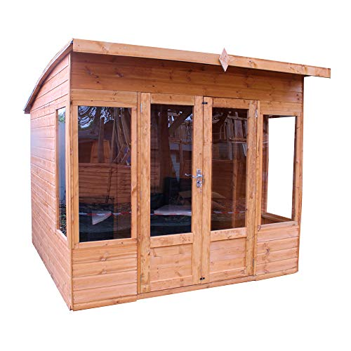 Waltons Wooden Summerhouse 8x8 Outdoor Garden Room Building, Sunroom, Studio, Office (8 x 8 / 8Ft x 8Ft)