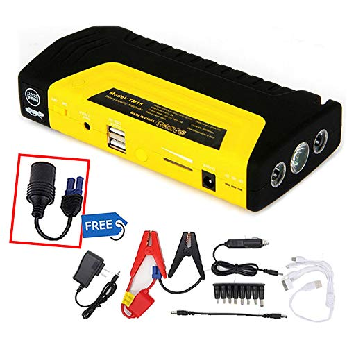 Read About Emergency Car Jump Starter 12V Starting Device USB Portable Power Bank Car Battery Jump S...