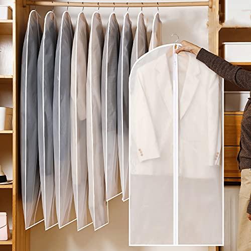 'N/A' Sac à Vêtements Housse Anti-Mites Imperméable Et Respirant Adapté pour Costume Robe Manteau Veste Chemise Robe De Soirée 60x120cm(Size:60×140cm,Color:5PCS)