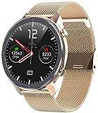 Reloj Inteligente Hombres Mujeres ECG PPG Frecuencia Cardíaca Completa Ronda Táctil Impermeable IP68 Smartwatch Pulsera 300MAH Batería Reloj-D