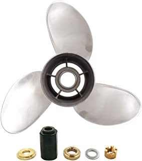 POLAFLEX High Polished Stainless Finish 3 Blade Prop Propeller with Interchangeable Hub Kits for Yamaha E 175-250HP
