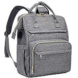 LOVEVOOK Laptop Rucksack Damen 17 Zoll, Schulrucksack Daypack wasserdichte, Business Rucksäcke mit Laptopfach und Anti-Diebstahl Tasche, für Reisen Herren, Grau