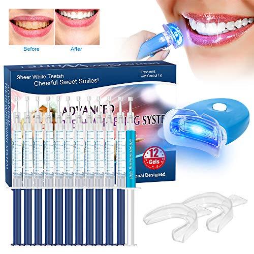 Kit de Blanqueamiento de Dientes, BREETT Blanqueador Dental Profesional Teeth Whitening Kit, Para Manchas de Humo Geles blanqueamiento 12