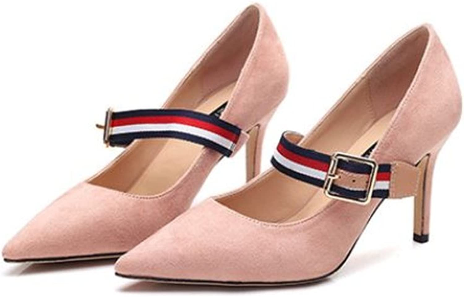 SUNNY Store Women's Fashion Classic Fashion Pointed Toe High Heel Dress Pumps shoes