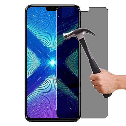 Lapinette de vidrio templado compatible con Honor 8X anti espía – Protector de pantalla de vidrio templado Honor 8X anti espía – Filtro de privacidad de vidrio templado
