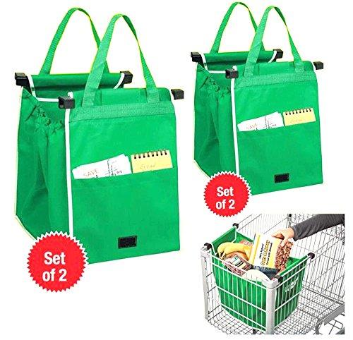 Portátil Shopping funda, 2unidades) Bolsa de la compra para la Locura, brilli antjo Moneda para el carro de la compra bolsa reutilizable Vida mediante plegable Bolsa Verde 37* 37* 25cm
