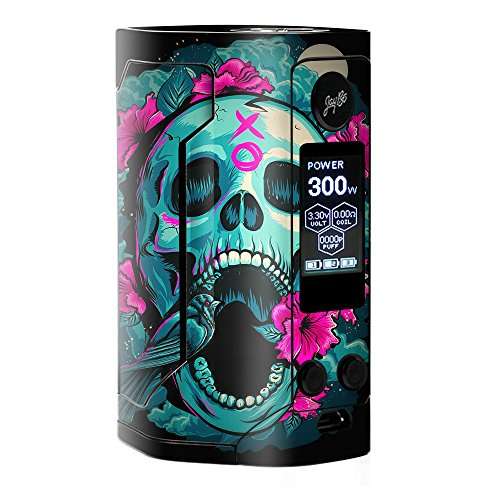 Skin Decal Vinyl Wrap for Wismec Reuleaux RX Gen 3 300W Vape stickers skins cover/ Skull Dia De Los Muertos Design Bird