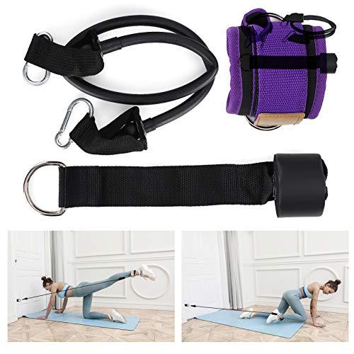 Nuobi Bandas de Resistencia para Yoga, cómodas Bandas elásticas para Ejercicios portátiles para glúteos para Uso Personal en el hogar para Uso Profesional para piernas de Uso General(Purple)