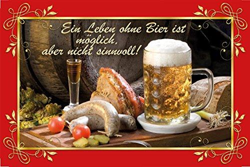 Schatzmix EIN Leben ohne Bier ist möglich, Aber Nicht sinnvoll haxe, bratwürst, Bier, Essen, Mahlzeit
