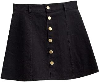TOPUNDER Waist Skirt Korean Style Girls Cowboy Mini Denim Short Skirt for Women