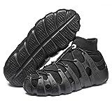 VcnKoso Scarpe Corsa Barefoot Sportive Scarpe da Trail Running Casual Sneakers da Camminata Outdoor Passeggio Sandal Indoor Scarpe da Traspiranti per Fitness Donna Uomo Nero 40