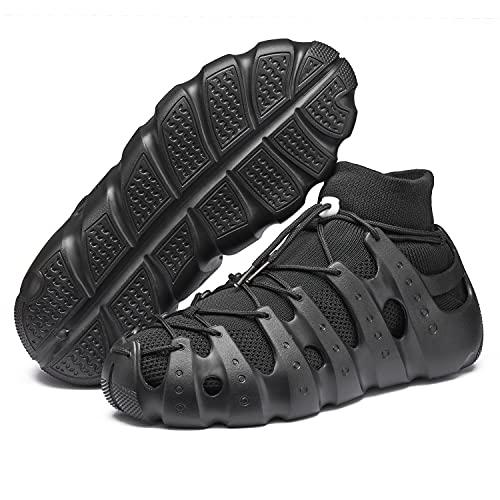 VcnKoso Zapatos para Hombre Zapatillas para Correr Zapatillas Deportivas para Mujer Sandalias para Caminar Zapatos de Playa para Senderismo Negro 44